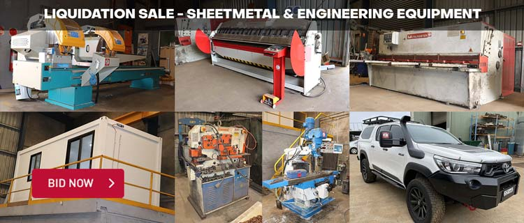 Liquidation Sale - Sheetmetal & Engineering Equipment