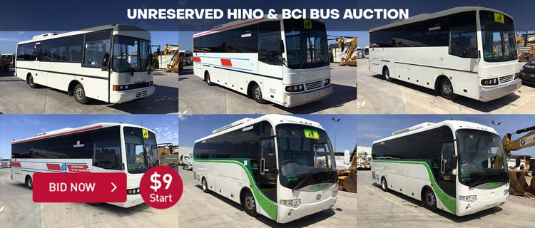 Unreserved Hino & BCI Bus Auction