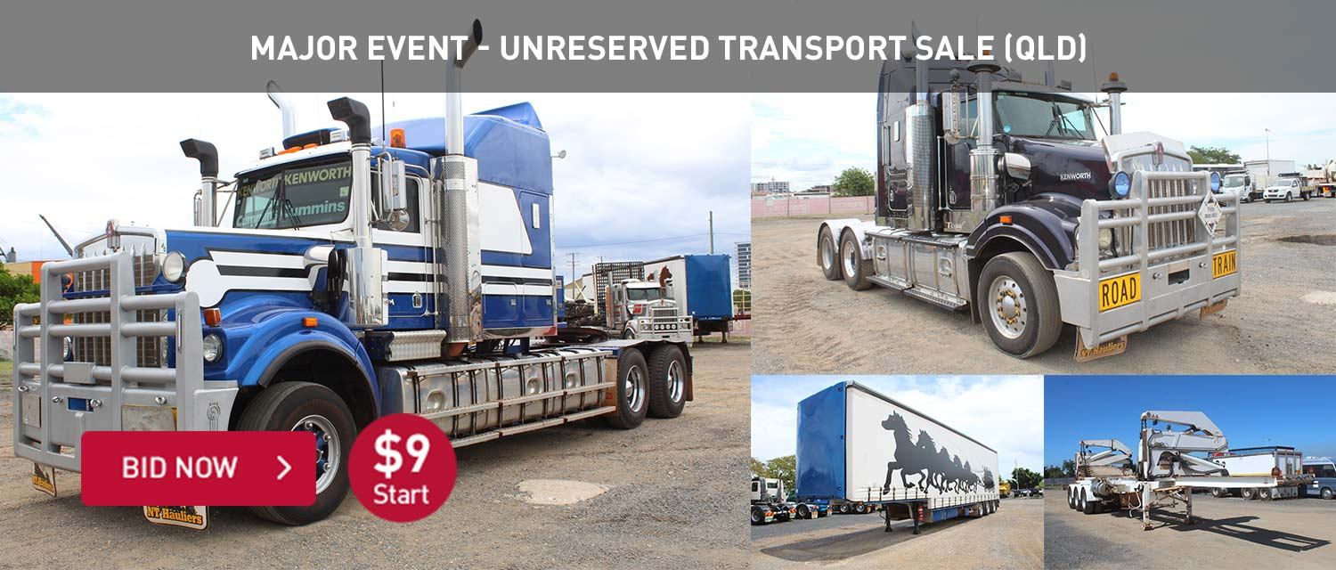 Major Event - Unreserved Transport Sale (QLD)