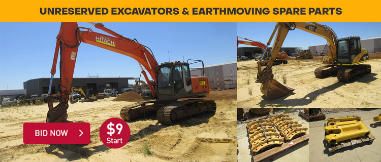 Unreserved Excavators & Earthmoving Spare Parts