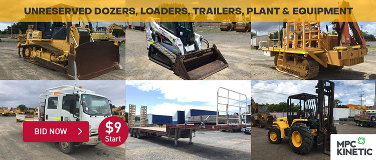 Unreserved Dozers, Loaders, Trailers, Plant & Equipment