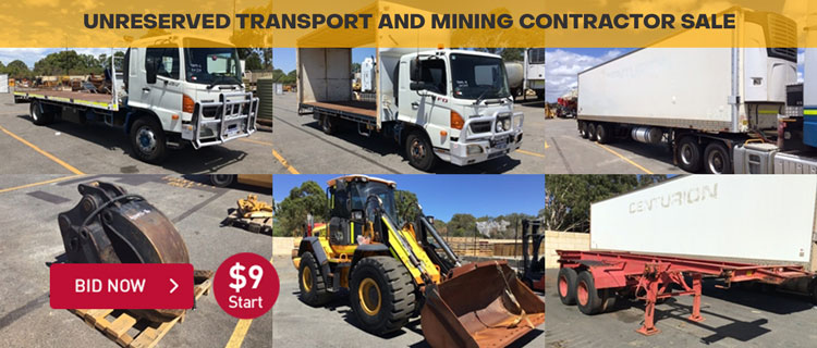 Unreserved Transport and Mining Contractor Sale