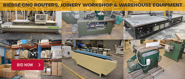 Biesse CNC Routers, Joinery Workshop & Warehouse Equipment