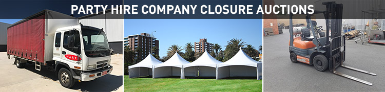 PARTY HIRE COMPANY CLOSURE AUCTIONS