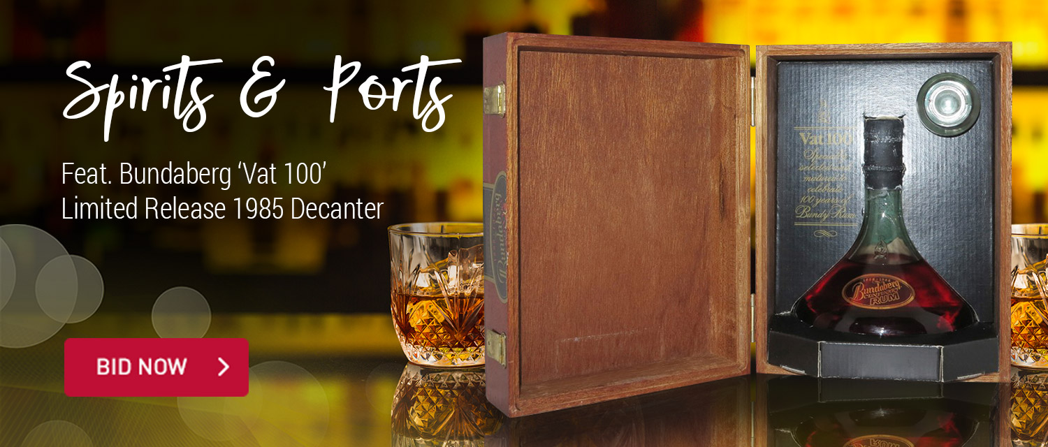 Spirits and Ports ~ Feat. Bundaberg 'Vat 100' Limited Release 1985 Decanter