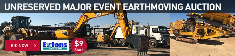 Unreserved Major Event Earthmoving Auction