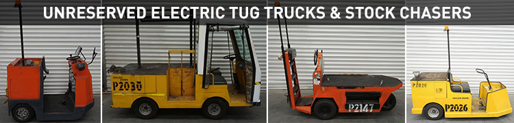 Unreserved Electric Tug Trucks & Stock Chasers