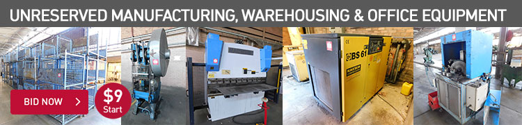 Unreserved Manufacturing, Warehousing & Office Equipment