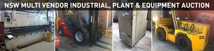 NSW Multi Vendor Industrial, Plant & Equipment Auction