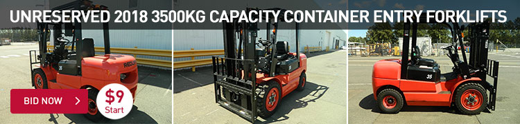 Unreserved 2018 3500kg Capacity Container Entry Forklifts