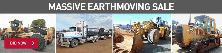 MASSIVE EARTHMOVING SALE