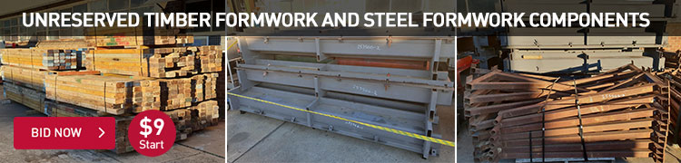 Unreserved Timber Formwork and Steel Formwork Components