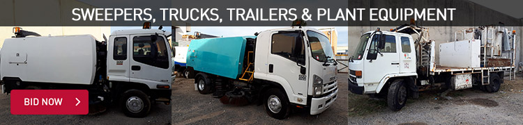 Sweepers, Trucks, Trailers & Plant Equipment