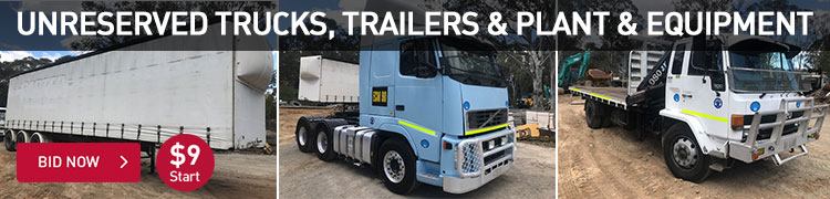 Unreserved - Trucks, Trailers & Plant Equipment