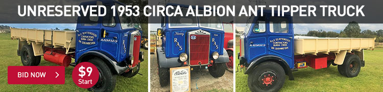 Unreserved - 1953 Albion Antique Tipper Truck
