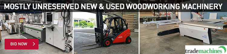 Mostly Unreserved New and Used Woodworking Machinery