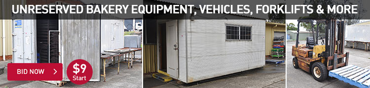 Unreserved Bakery Equipment, Vehicles, Forklifts & More