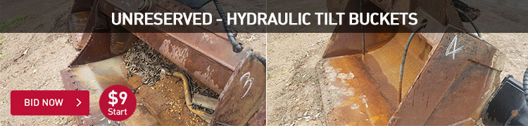 Unreserved - Hydraulic Tilt Buckets