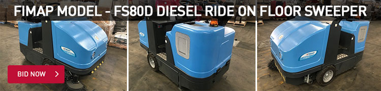 Fimap Model - FS80D Diesel Ride On Floor Sweeper