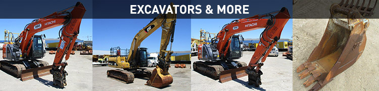 Late Model Excavators and Earthmoving Attachments