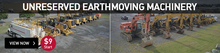 Major Event - Unreserved Earthmoving Machinery