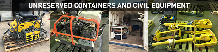 Unreserved Containers and Civil Equipment