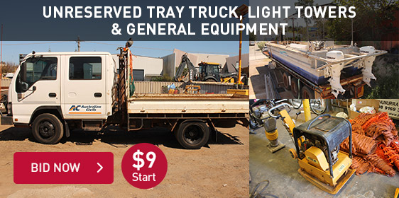 Unreserved Tray Truck, Light Towers & General Equipment