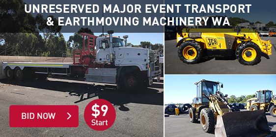 Unreserved Major Event Transport & Earthmoving Machinery WA