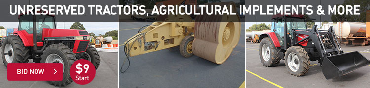 Unreserved Tractors, Agricultural Implements and More - WA