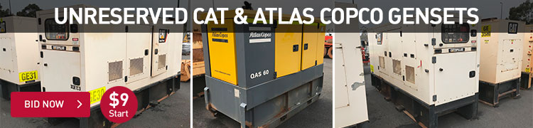 Unreserved CAT and Atlas Copco Gensets