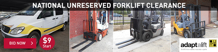 National Unreserved Forklift Clearance