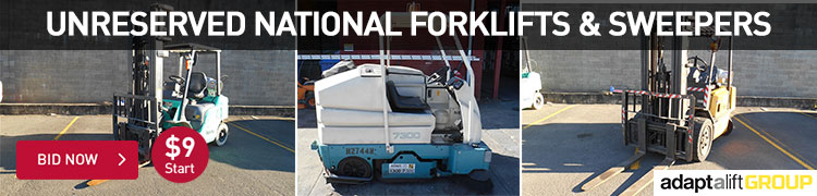 Unreserved National Foklifts & Sweepers