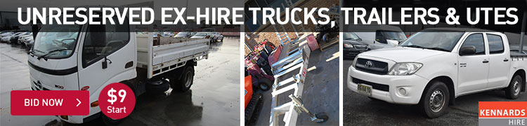 Unreserved Ex-Hire Trucks, Trailers & Utes