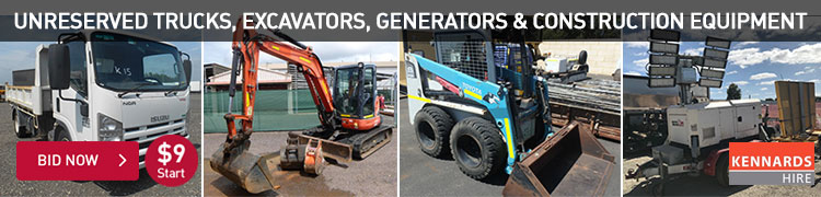 Unreserved Trucks, Excavators, Generators & Construction Equipment