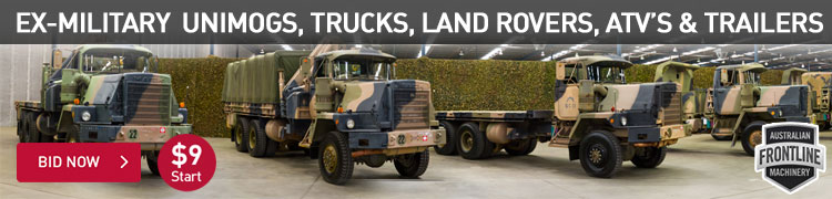 Ex Military Unimogs, Trucks, Land Rovers, ATVs & Trailers