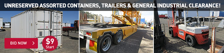 Unreserved Assorted Containers, Trailers & General Industrial Clearance