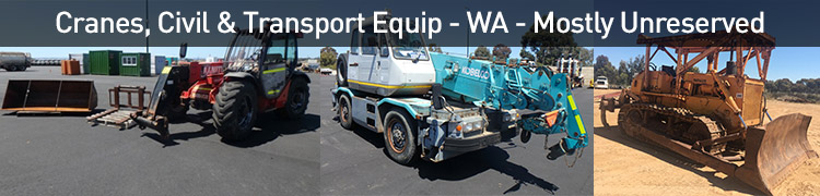 Cranes, Civil & Transport Equip - WA - Mostly Unreserved