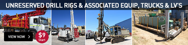 Unreserved Drill Rigs,& Associated Equip, Trucks & LV's