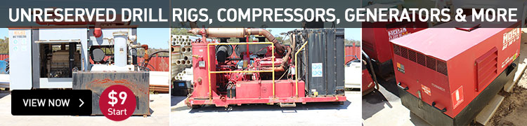Unreserved Drill Rigs, Compressors, Generators & More