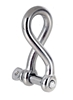 10 x Stainless Steel Twisted Shackles 5mm, Grade 316. Buyers Note - Discoun