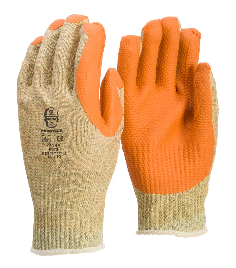 12 Pairs x Heavy Duty Rubber Palm Seamless Work Gloves, Size XL, High Level