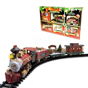 Christmas Train Set.Deluxe Remote Controlled Christmas Train Set