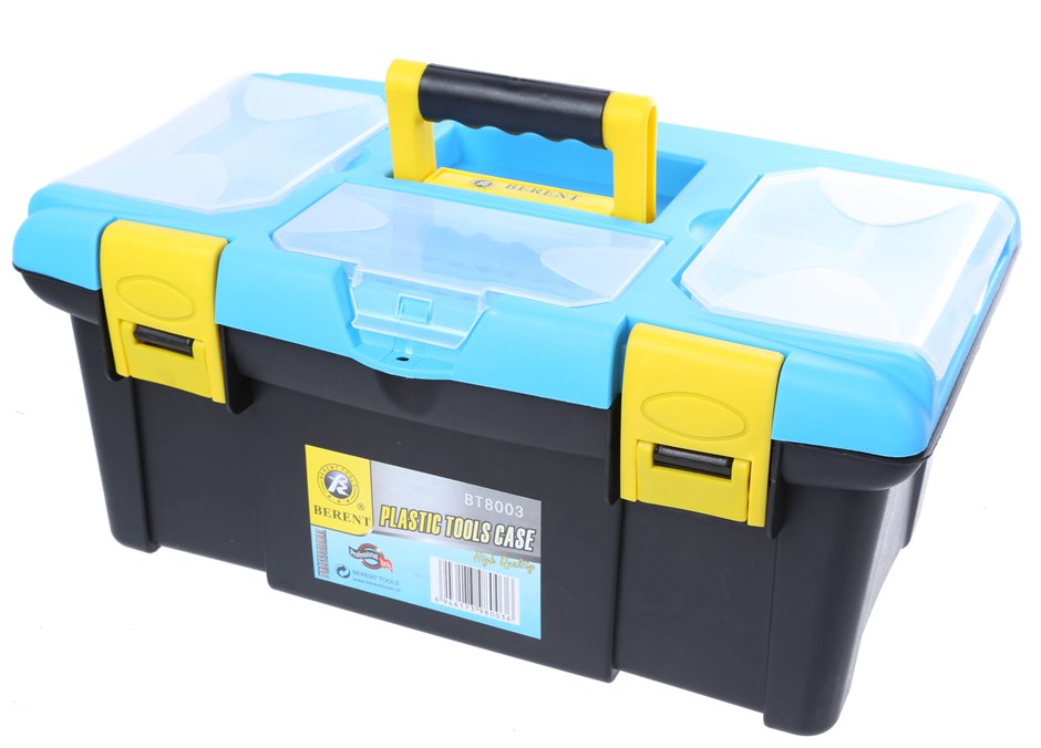 2 x BERENT Tool Boxes, Size: 330 x 160 x 120mm. Buyers Note - Discount Frei