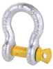 8 x Bow Shackles, WLL 1T, Screw Pin Type, Grade S, Yellow Pin. Buyers Note