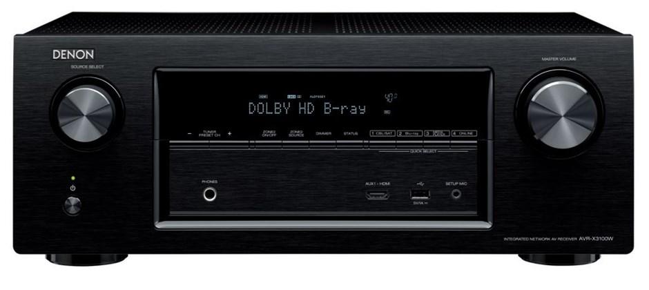 Denon AVR-X3100 7.2CH Integrated Network AV Receiver with Bluetooth (Black)