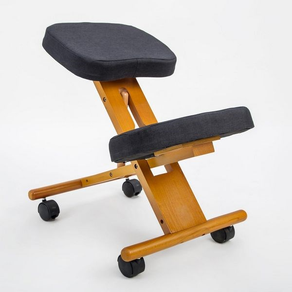 Adjustable Ergonomic Kneeling Chair Stretch Stress Office Seat - Office Furniture Cairns - Products Graysonline