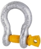 4 x Bow Shackles, WLL 2T, Screw Pin Type, Grade S, Yellow Pin. Buyers Note