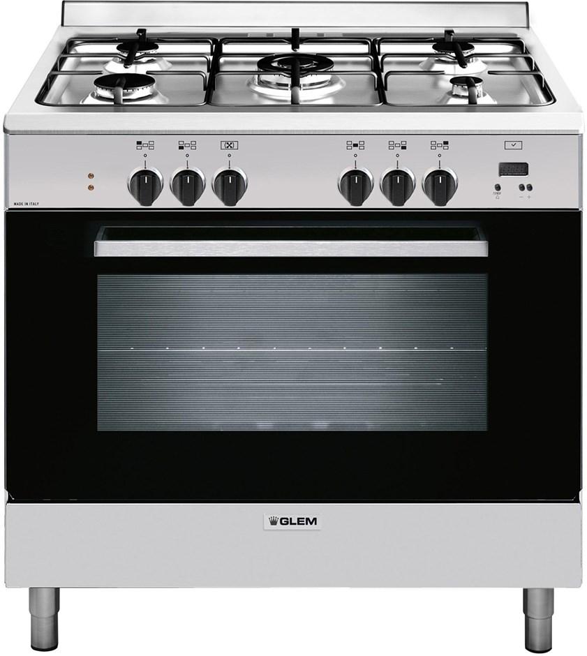 Glem 90cm Freestanding Stainless Steel Cooker - GL965EI