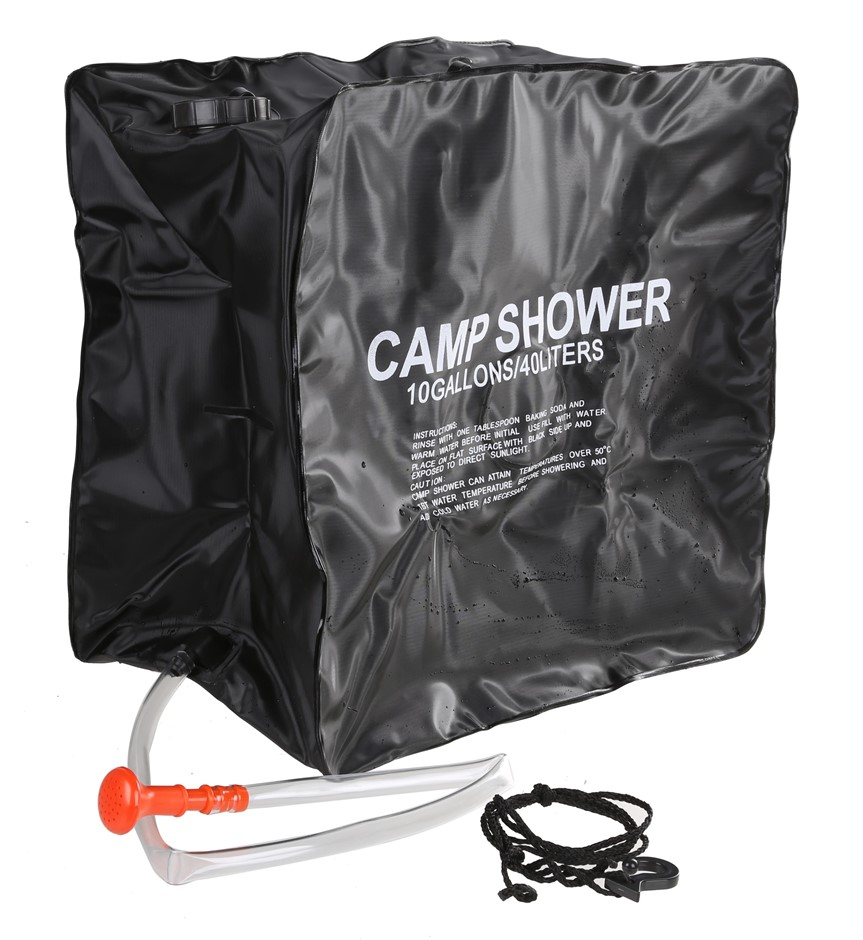 Solar Camp Shower 40L. Buyers Note - Discount Freight Rates Apply to All Re