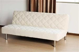 Italian Design F1 White Pu Leather Sofa Bed Futon